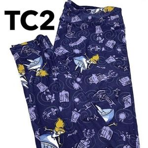NWT Lularoe TC2 Leggings Navy Disney Alice Wonder